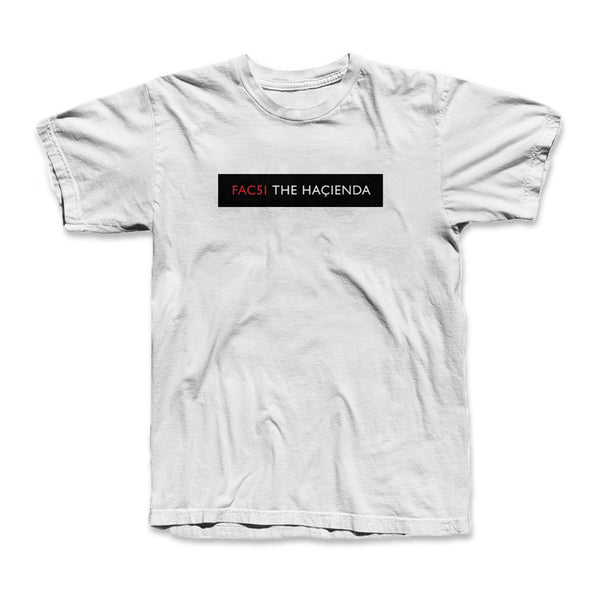 HACIENDA DOOR PLATE T SHIRTS (WHITE)