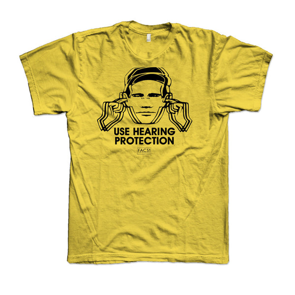 WEAR HEARING PROTECT T SHIRTS (YELLOW)