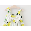 Lemon Sundress With Lovely Bow-Mommy's Store