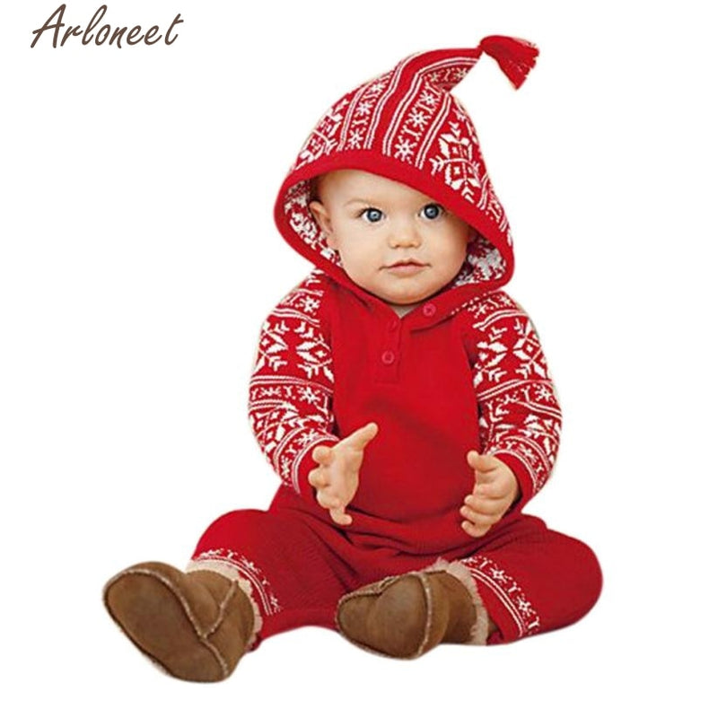 Hooded Christmas Romper