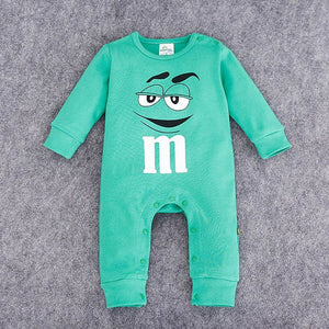 03-18  month long sleeve M&M Romper