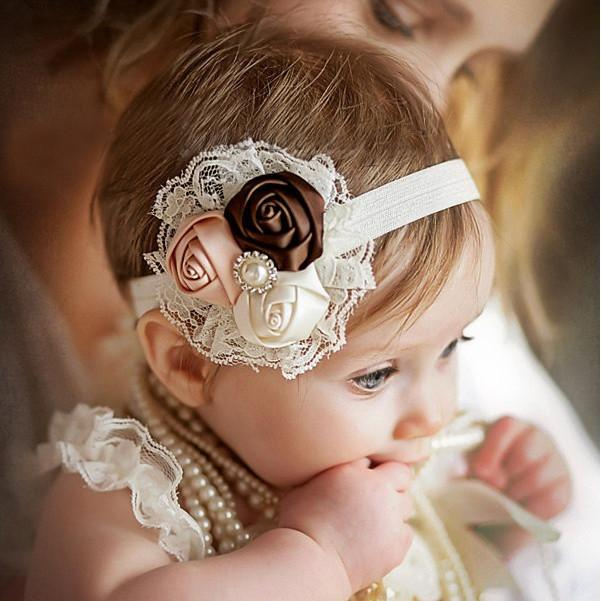 RHEA - Flower Lace Headband-Mommy's Store