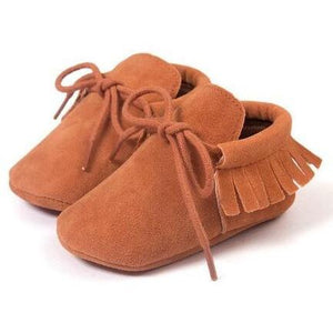 Suede Lace-up Moccasins-Mommy's Store