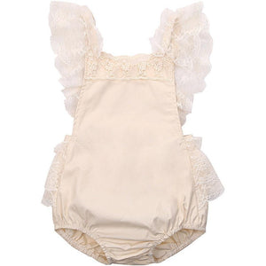 White Lace Bodysuit-Mommy's Store