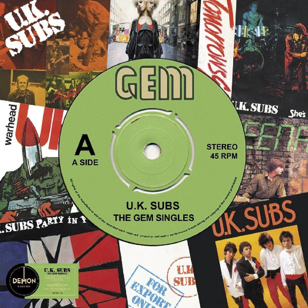 UK SUBS - GEM SINGLES - UK SUBS (LP)