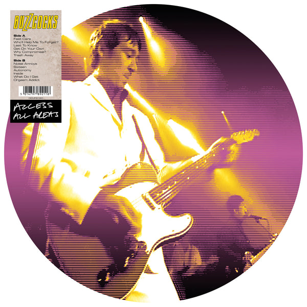 BUZZCOCKS - ACCESS ALL AREAS - LONDON TOWN & COUNTRY CLUB 1992 (PICTURE DISC LP)