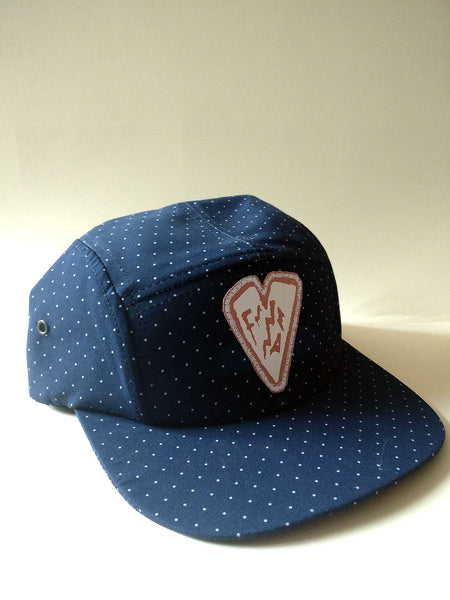 5 Panel Cap Polka Dot