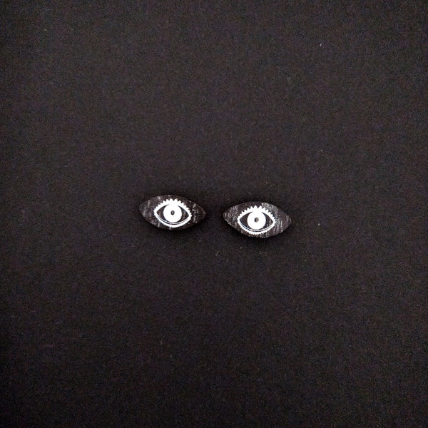 Beady Eyes Stud Earrings Black