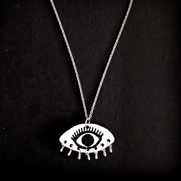 Eye Of The Tiger Necklace White