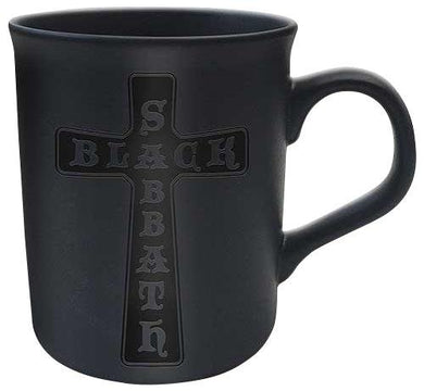 Black Sabbath Cross Mug matt black