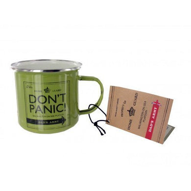 Official Dad's Army Don't Panic Enamel Mug
