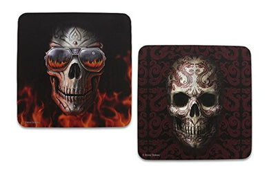 Anne Stokes Skull Set Of 2 Coasters