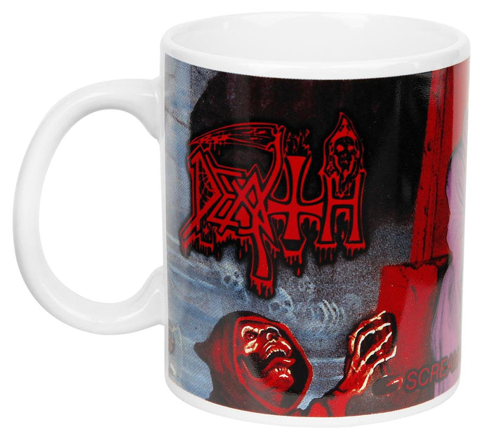 Death Scream bloody gore Mug white