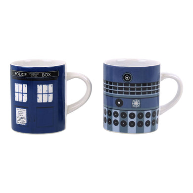 Dr Who (Tardis and Dalek) Mini Mug Set
