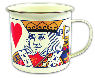 Playing Cards (King of Hearts) Enamel Mug