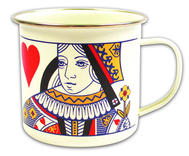 Playing Cards (Queen) Enamel Mug