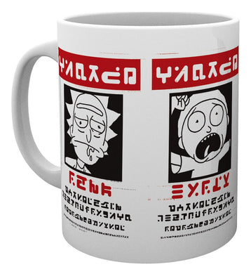 Rick And Morty Wanted Mug