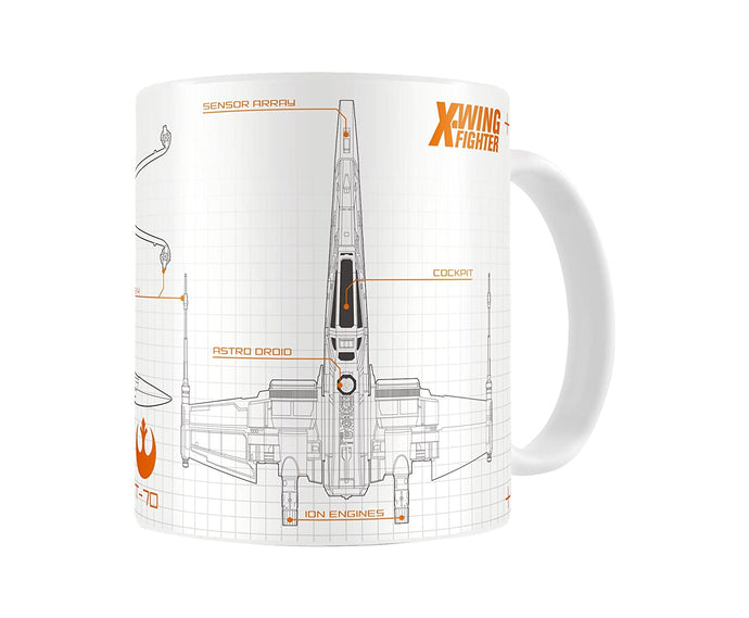 Star Wars Blueprint X-Wing Mug - Boxed