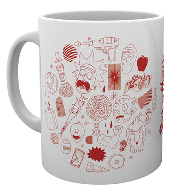 Rick And Morty (Line Art) Mug