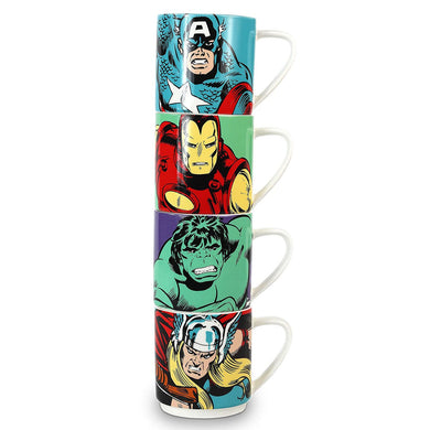 Marvel Comics Stacking Mugs Set Of 4