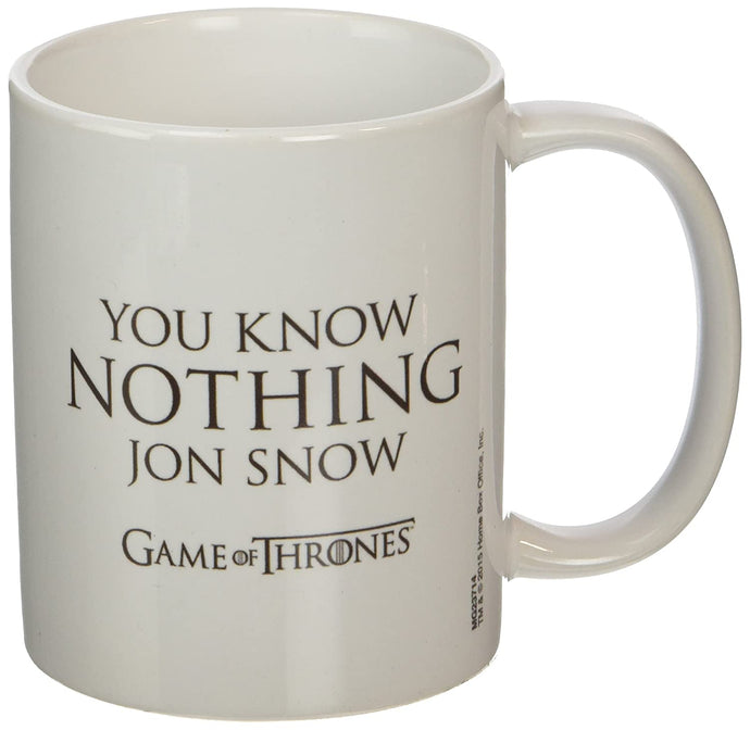 Game of Thrones You Know Nothing Jon Snow Ceramic Mug