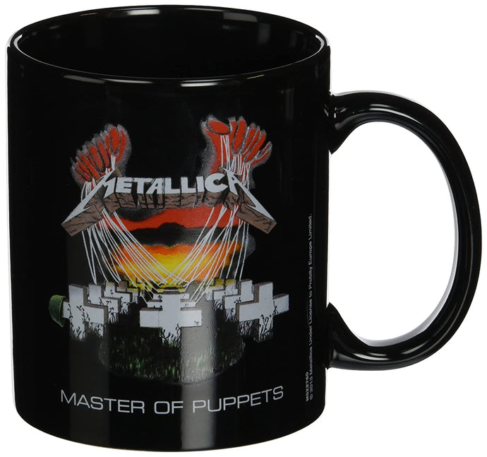 Metallica Master of Puppets Black Ceramic Mug
