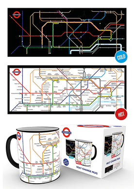 Transport For London (Underground Map) Heat Changing Mug