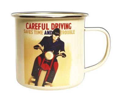 Postal Archive Enamel Mug Careful Driving