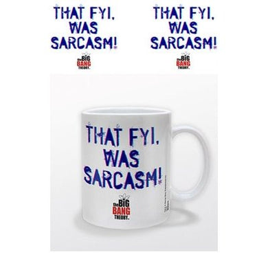 Big Bang Theory - That Fyi Was Sarcasm - Boxed Mug