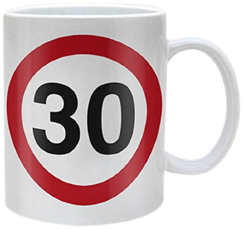 Ages (30 Traffic Sign) - Boxed Mug
