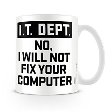 It Dept. I Will Not Fix Your Computer - Boxed Mug