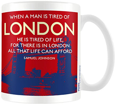 London (Tired Of Quote) - Boxed Mug