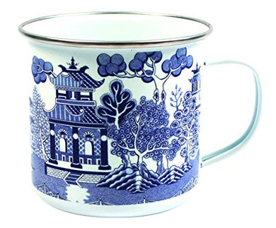 Willow Enamel Mug Blue