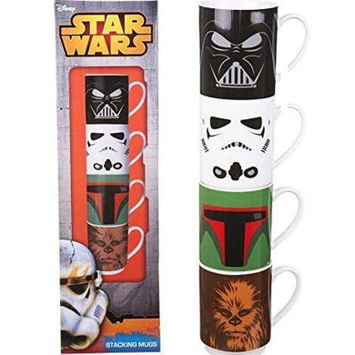 Star Wars Mugs Stacking Set Of 4