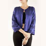 JACKET WITH EMBELLISHED SLEEVES