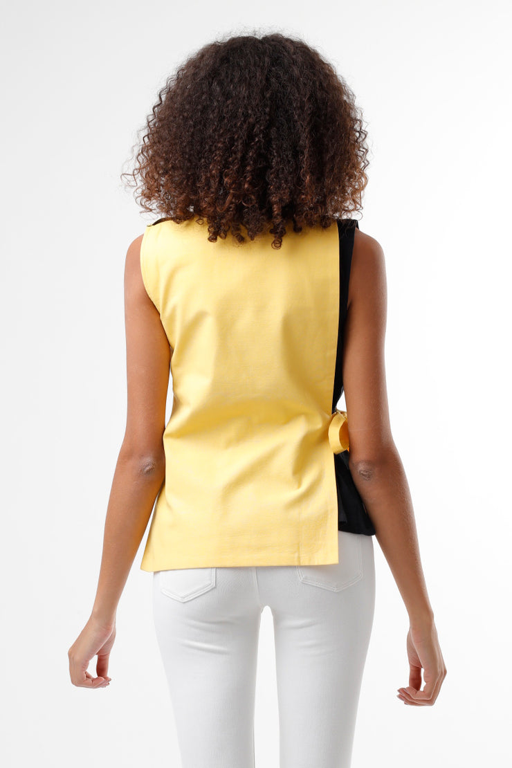 BLACK & YELLOW TOP