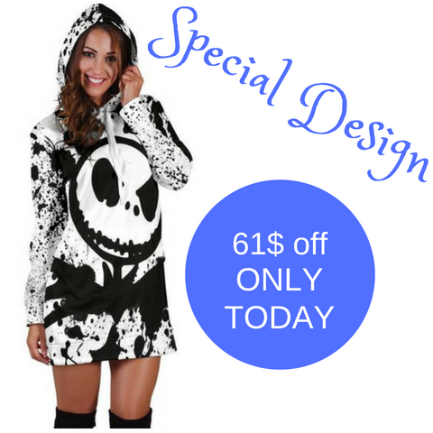 Jack Skellington Hoodie Dress