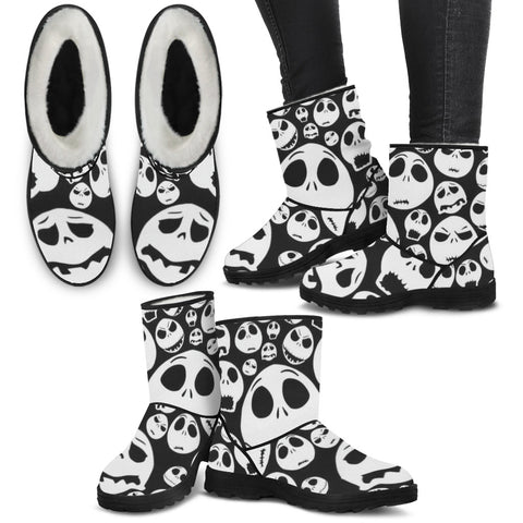 Make Your Choice with Jack Skellington Faux Fur Boots !!
