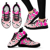 Nightmare Before Christmas Running Shoes - Jack Skellington Ombre Women's Lace Up Sneakers in Pink & White