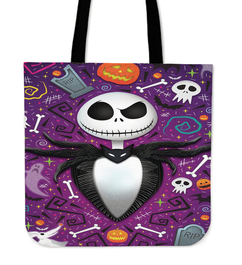 Jack Skellington Women's Purple Tote Bag