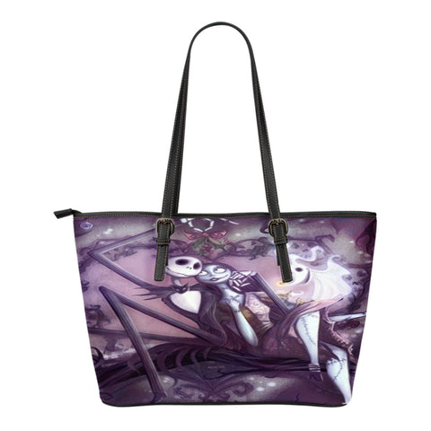 Jack & Sally Moment touch ! Jack skellington Women's Small Tote bag!!
