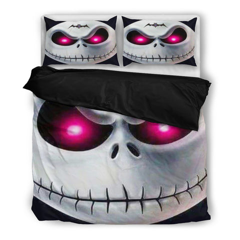 Jack Skellington's Angry Red Eyes 3-Piece Bedding Set in Black