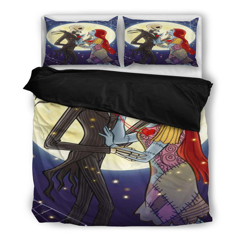 Jack Skellington & Sally Moonlight Lovers 3-Piece Bedding Set