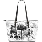 Jack Skellington & Halloween Town Gang Women's Tote Bag in White