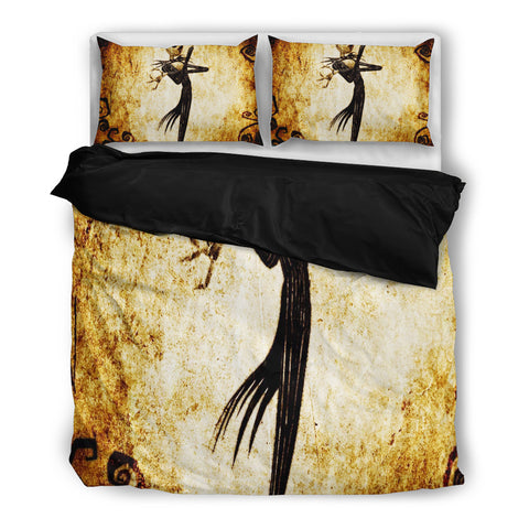 Queen Bed, King Bed, and Twin Bed - Nightmare Before Christmas Bedding Sets - Jack Skellington Rustic 3-Piece Bedding Set in White