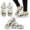 Jack Skellington Spooky Women's Lace Up Sneakers in White & Black