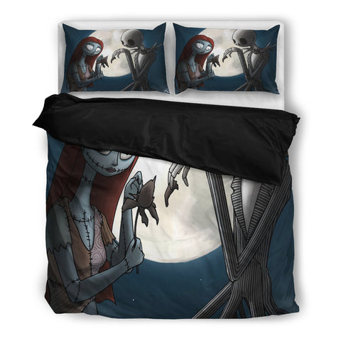 Jack Skellington & Sally Loves the Moon 3-Piece Bedding Set in Black