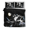 Queen Bed, King Bed, and Twin Bed - Nightmare Before Christmas Bedding Sets - Jack Skellington Rockin His Tuxedo 3-Piece Bedding Set in Black