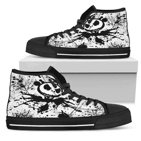 Nightmare Before Christmas Shoes - Jack Skellington Inspired Design Women's High Top Shoes
