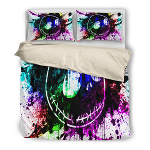 Jack Skellington Splash Colorful Paint 3-Piece Bedding Set